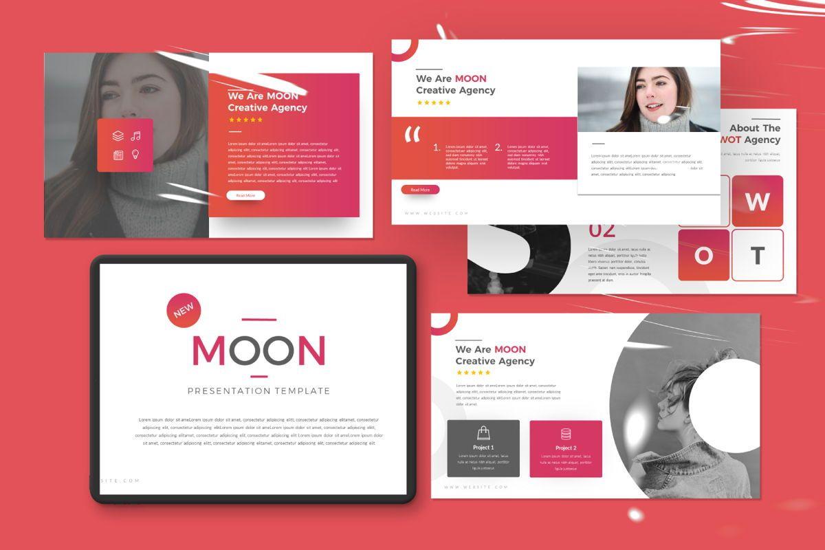 Moon Business Powerpoint, 06579, Presentation Templates — PoweredTemplate.com