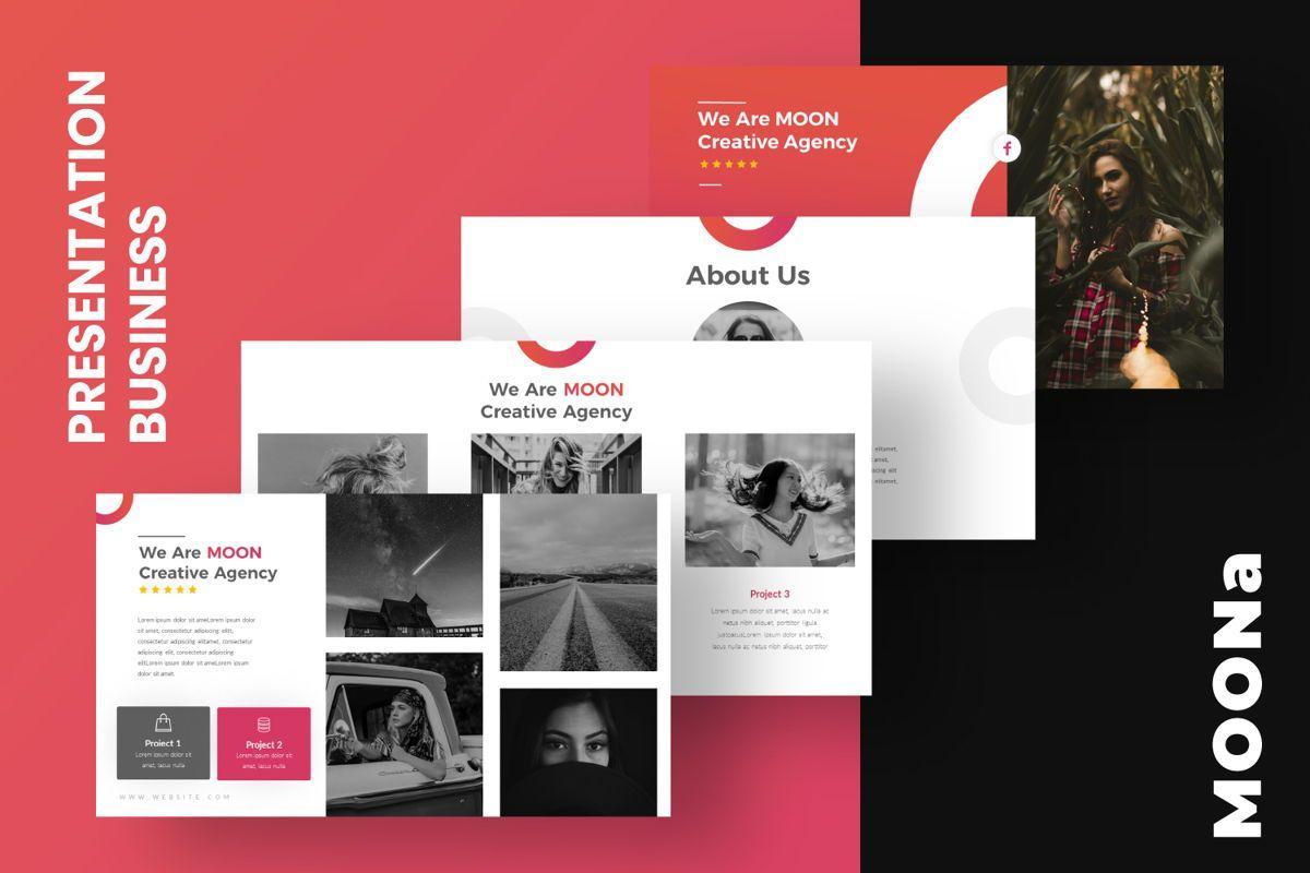 Moon Business Powerpoint, Slide 3, 06579, Presentation Templates — PoweredTemplate.com
