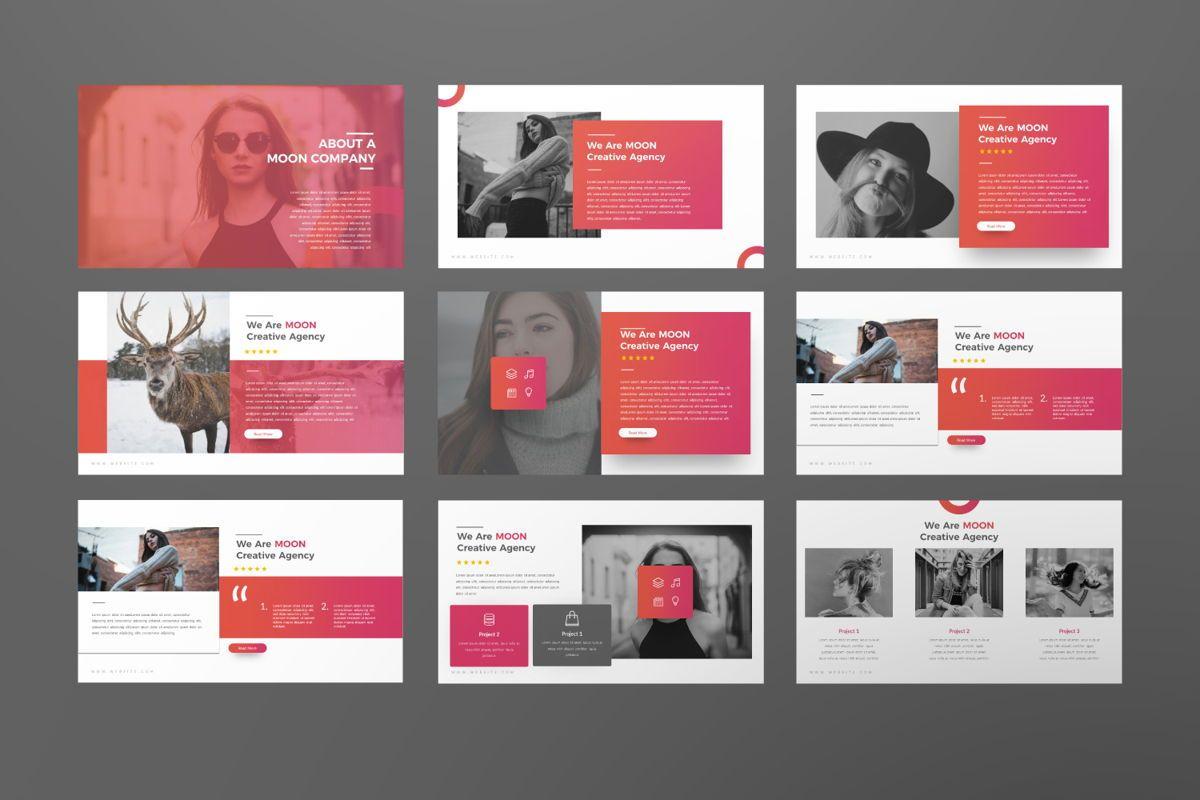 Moon Business Powerpoint, Slide 8, 06579, Presentation Templates — PoweredTemplate.com