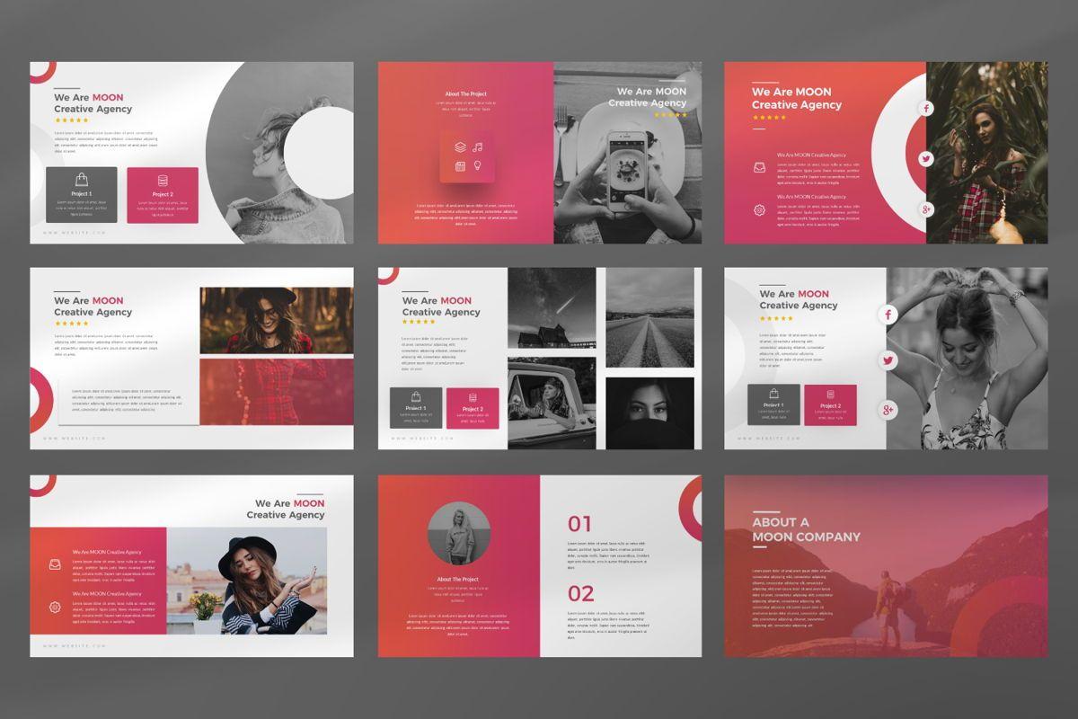Moon Business Powerpoint, Slide 9, 06579, Presentation Templates — PoweredTemplate.com