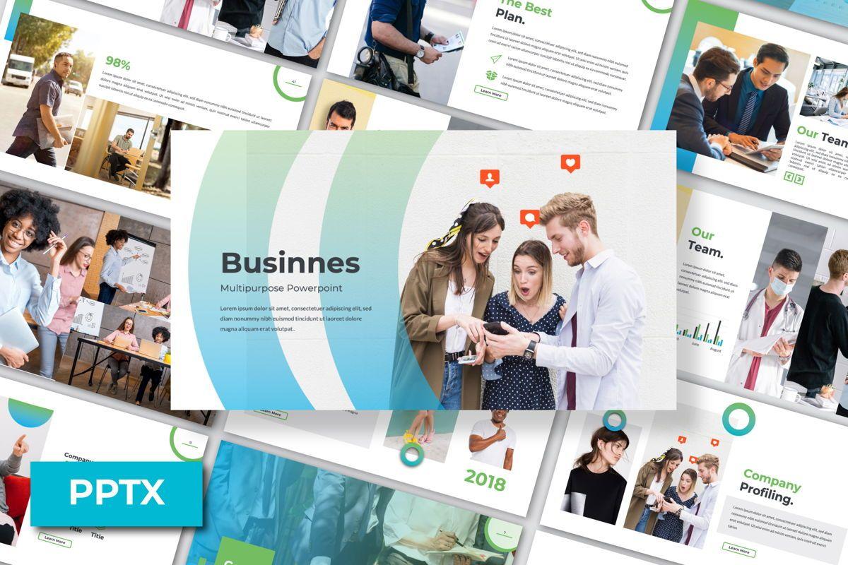Multipurpose Business Powerpoint, 06580, Presentation Templates — PoweredTemplate.com