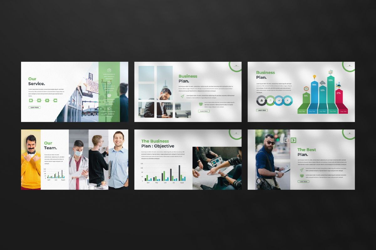 Multipurpose Business Powerpoint, Slide 4, 06580, Presentation Templates — PoweredTemplate.com