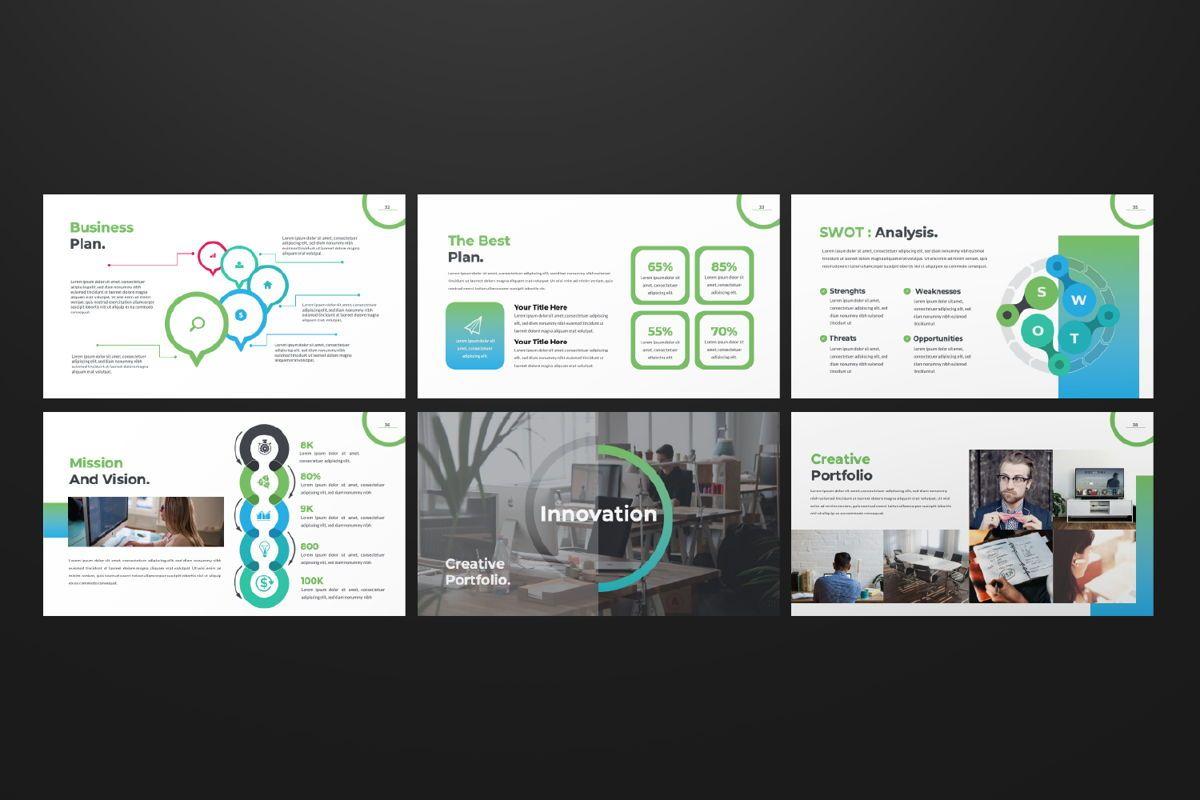 Multipurpose Business Powerpoint, Slide 6, 06580, Presentation Templates — PoweredTemplate.com