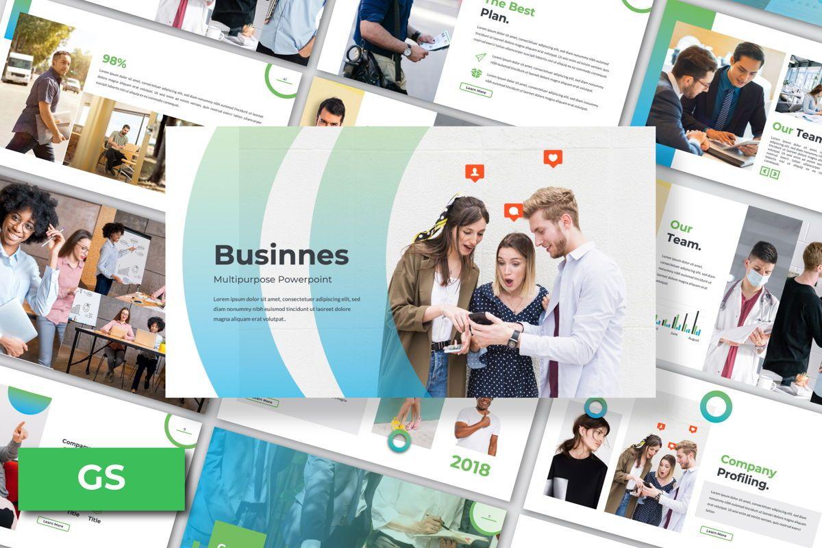 Multipurpose Business Google Slide, 06582, Presentation Templates — PoweredTemplate.com