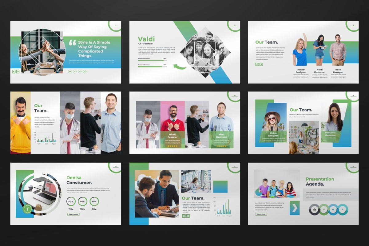 Multipurpose Business Google Slide, Slide 3, 06582, Presentation Templates — PoweredTemplate.com