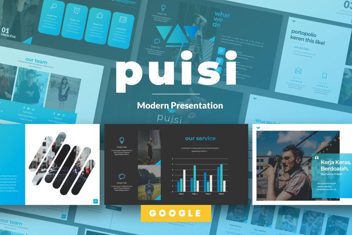 Puisi Business Google Slide, 06586, Presentation Templates — PoweredTemplate.com