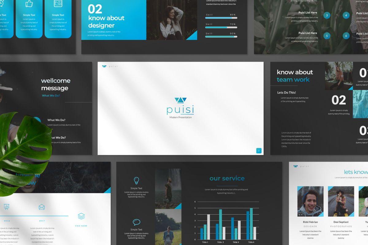 Puisi Business Google Slide, Slide 11, 06586, Presentation Templates — PoweredTemplate.com