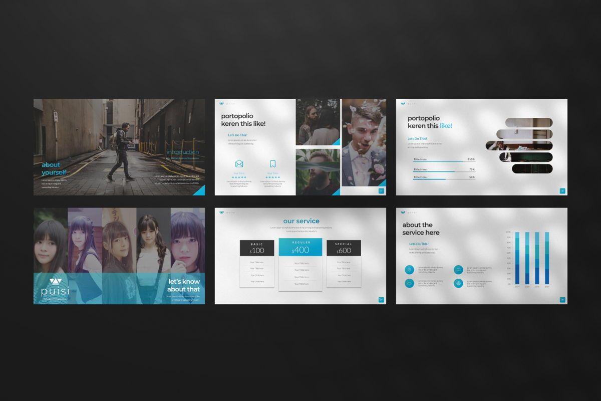 Puisi Business Google Slide, Slide 6, 06586, Presentation Templates — PoweredTemplate.com