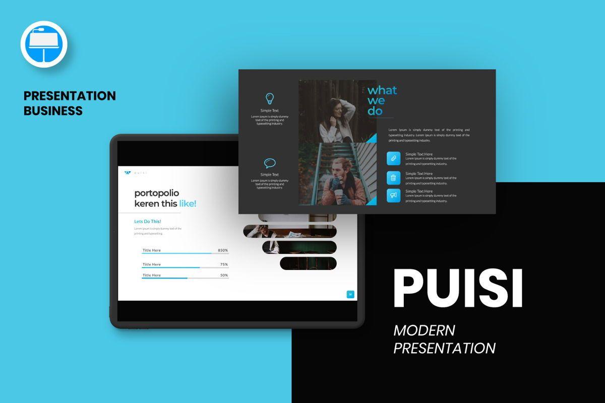Puisi Business Keynote, 06587, Presentation Templates — PoweredTemplate.com