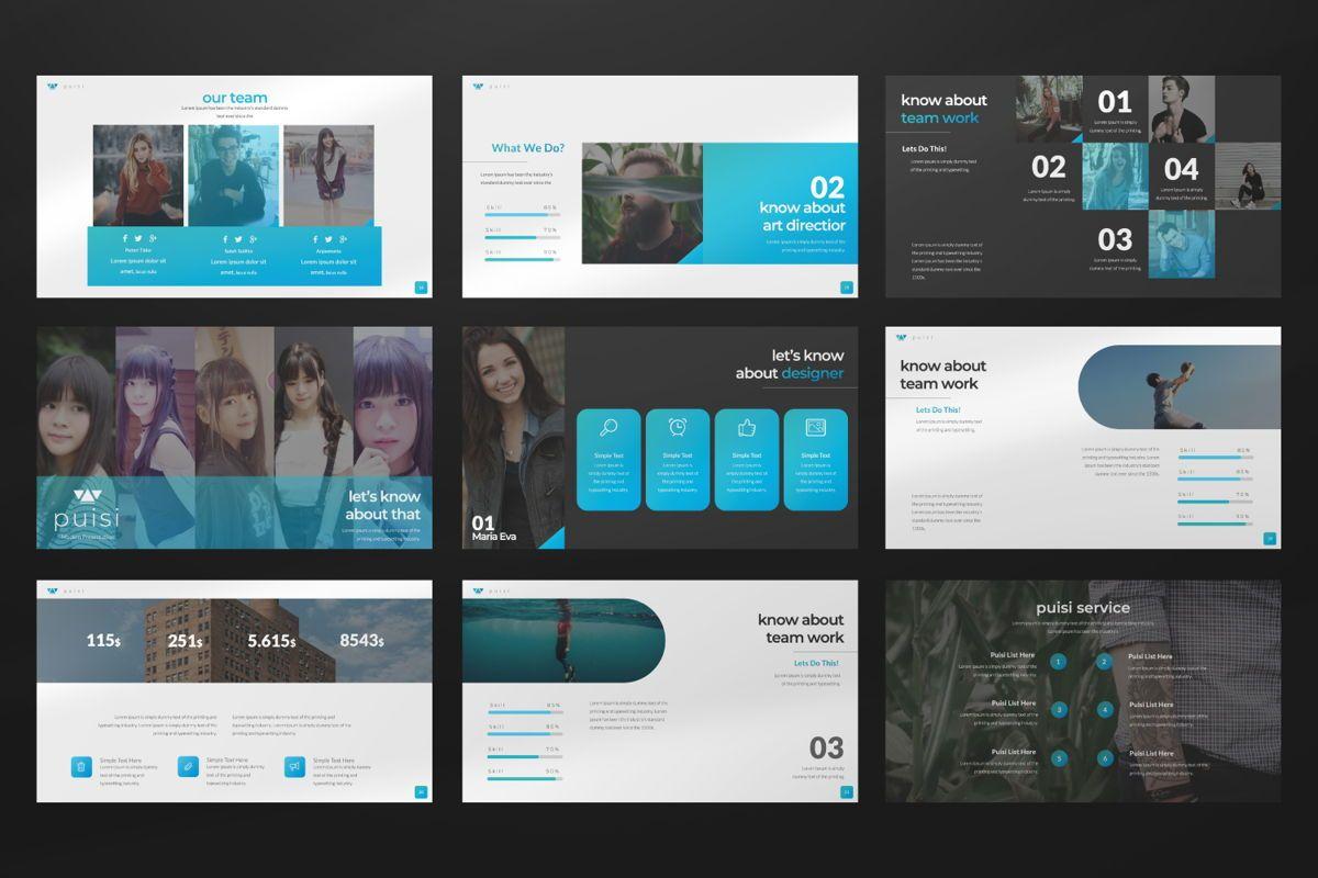 Puisi Business Keynote, Slide 4, 06587, Presentation Templates — PoweredTemplate.com