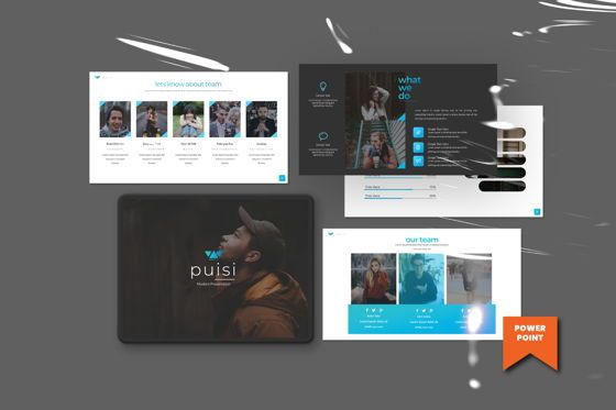 Presentation Templates: Puisi Business Powerpoint #06588