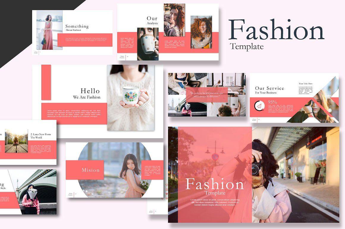 Fashion Creative Google Slide, 06589, Presentation Templates — PoweredTemplate.com