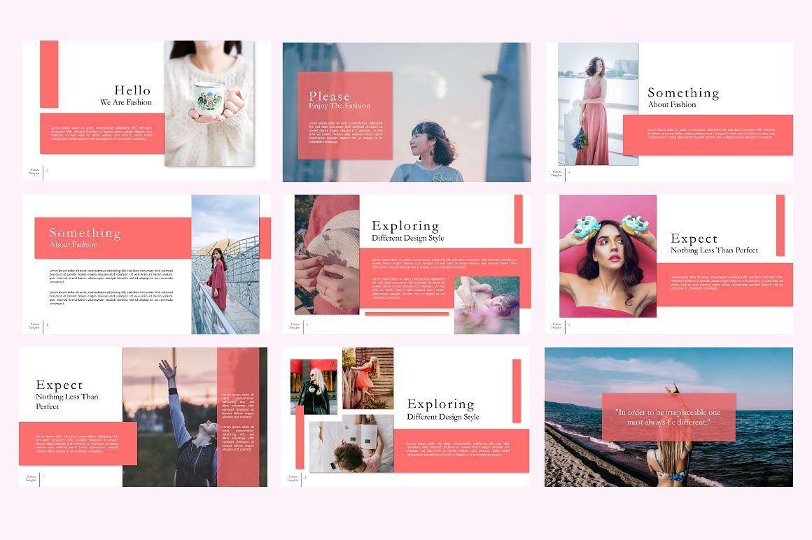 Fashion Creative Google Slide, Slide 2, 06589, Presentation Templates — PoweredTemplate.com