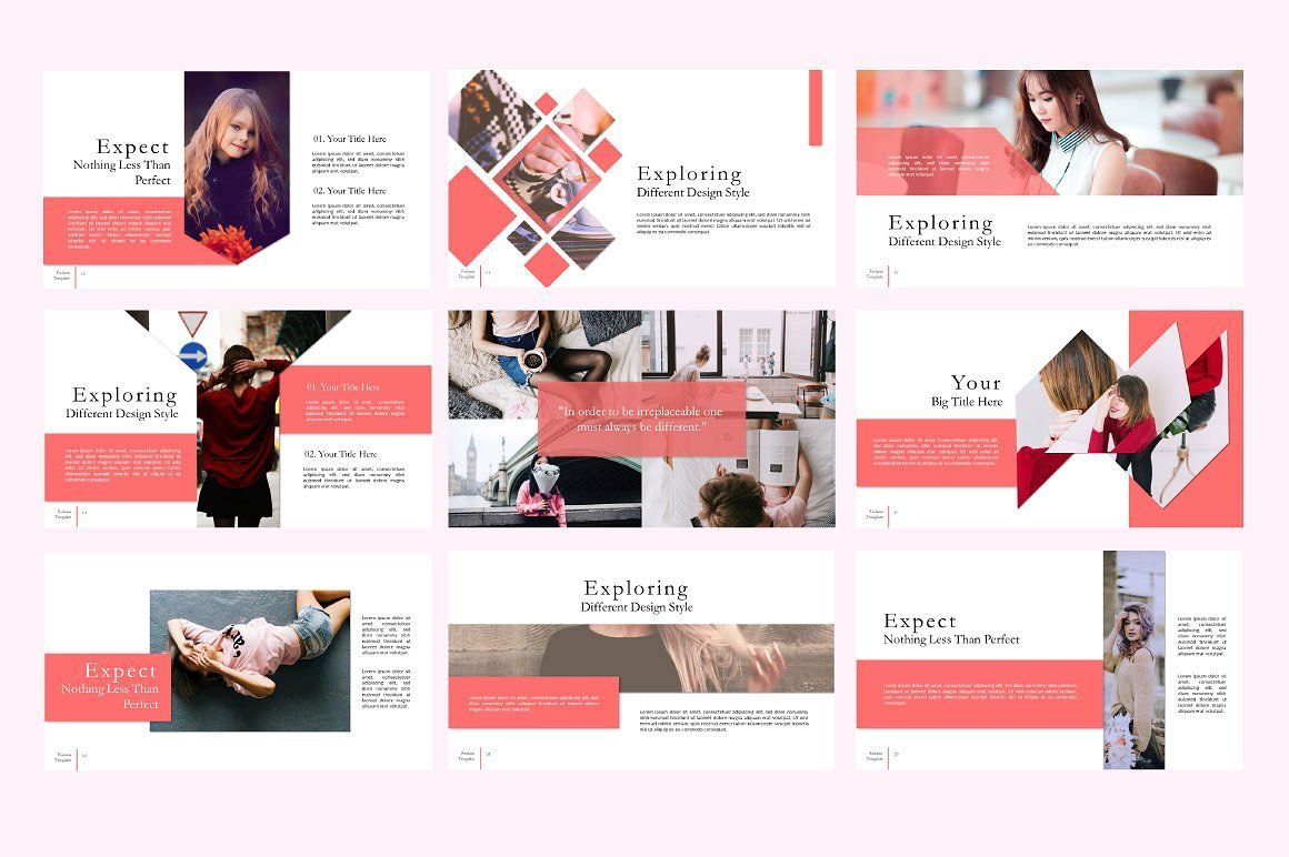 Fashion Creative Google Slide, Slide 3, 06589, Presentation Templates — PoweredTemplate.com