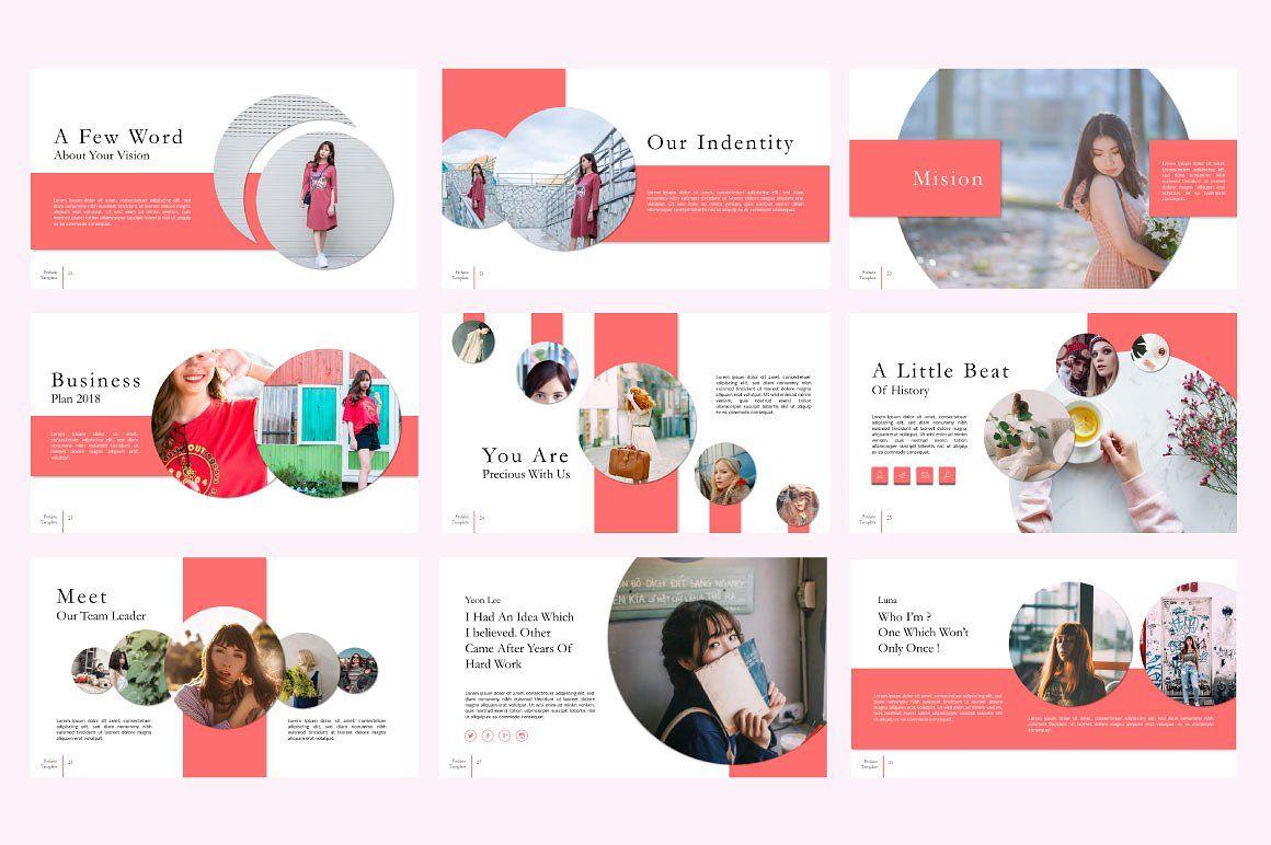 Fashion Creative Google Slide, Slide 4, 06589, Presentation Templates — PoweredTemplate.com