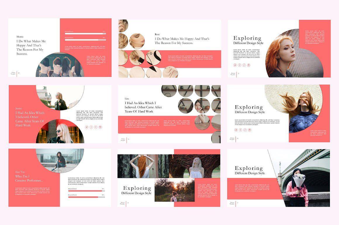 Fashion Creative Google Slide, Slide 5, 06589, Presentation Templates — PoweredTemplate.com