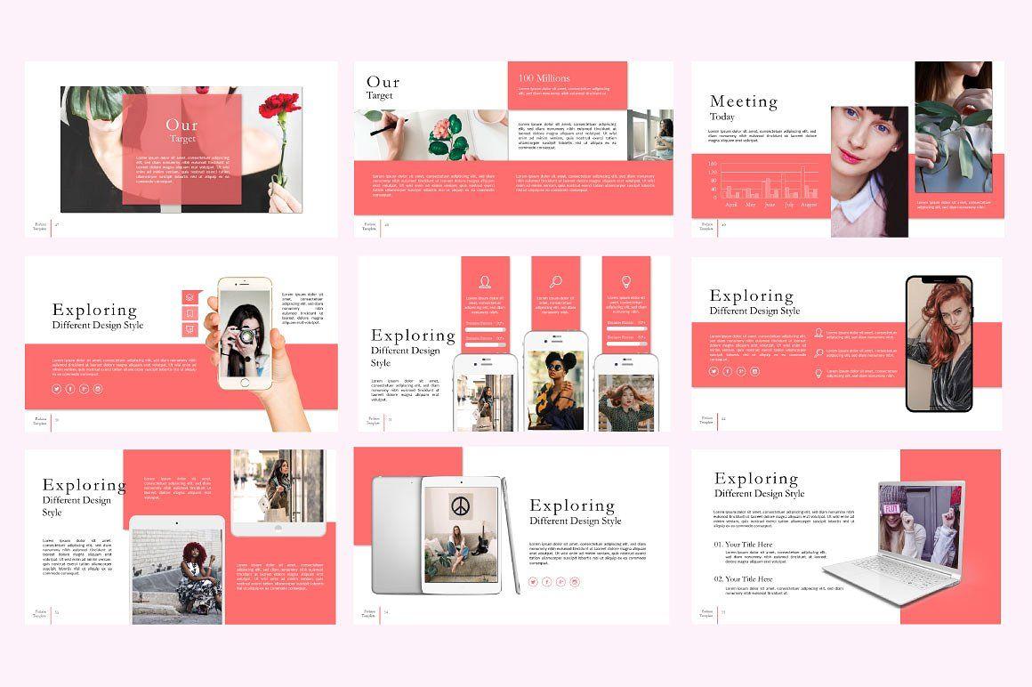 Fashion Creative Google Slide, Slide 7, 06589, Presentation Templates — PoweredTemplate.com