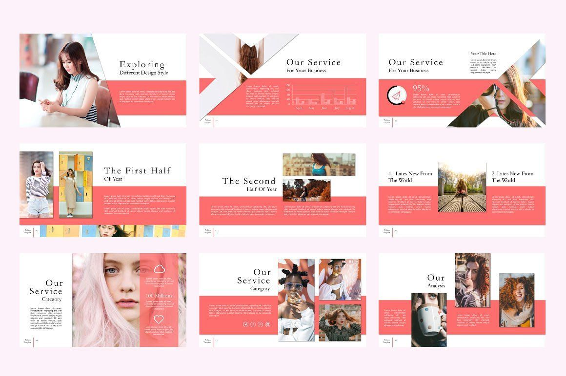 Fashion Creative Powerpoint, Slide 6, 06591, Presentation Templates — PoweredTemplate.com