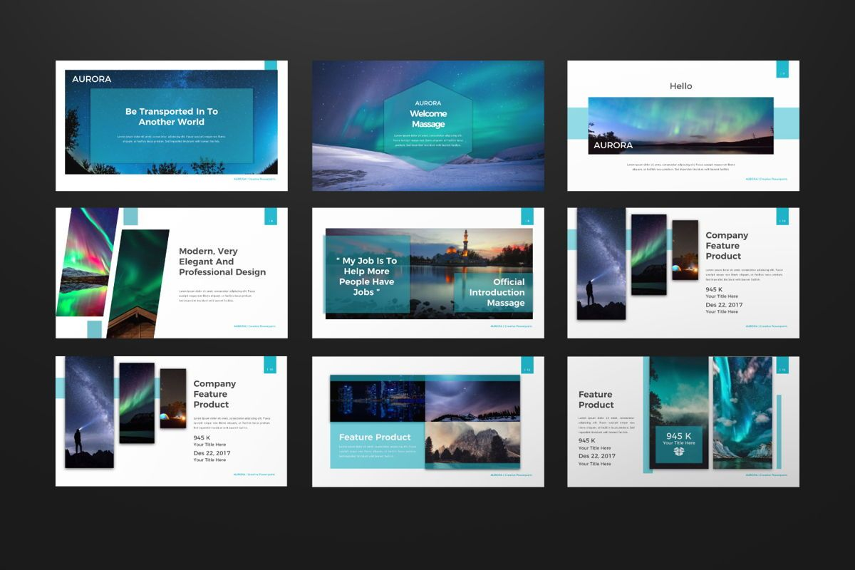Aurora Creative Powerpoint, Slide 2, 06592, Presentation Templates — PoweredTemplate.com