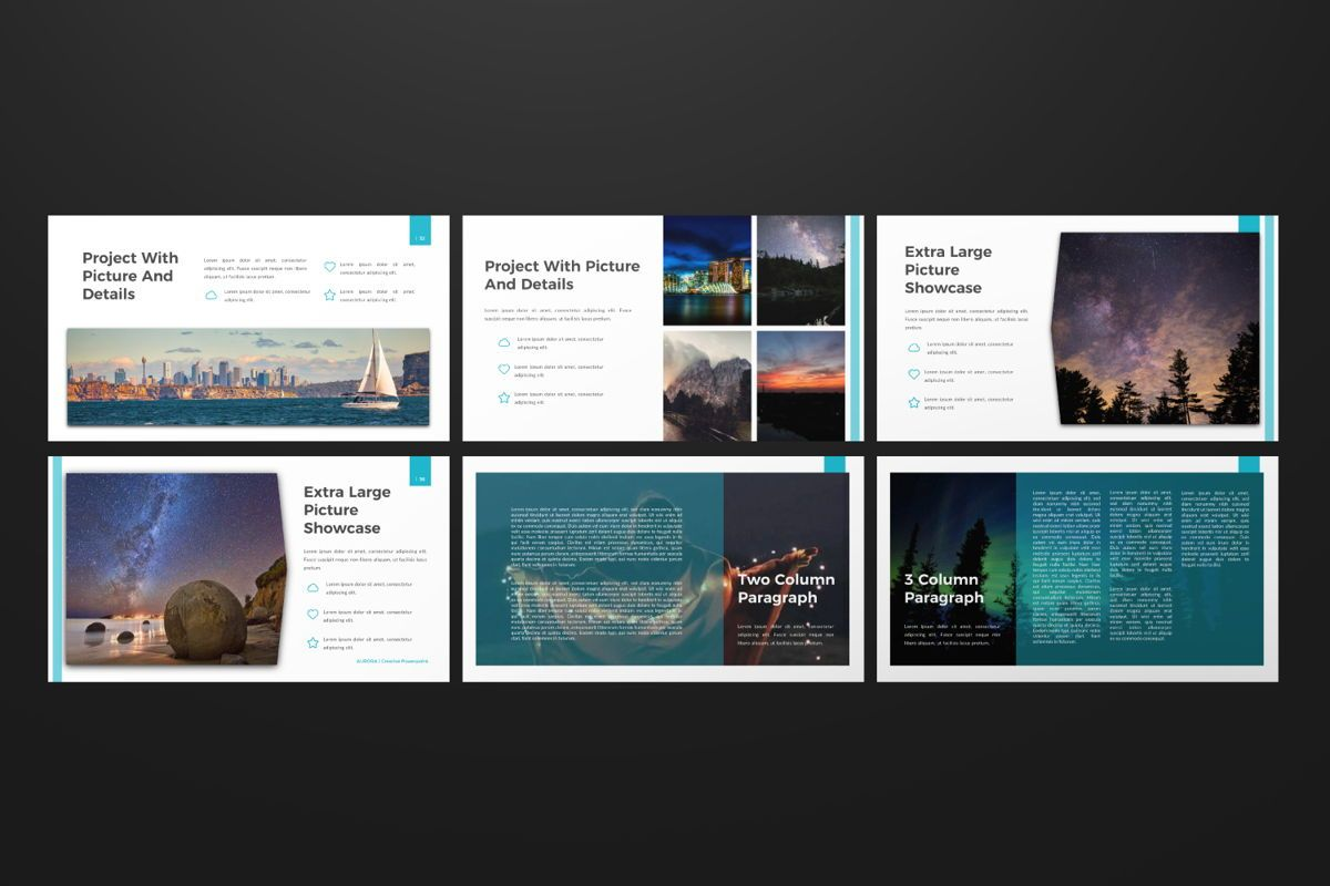 Aurora Creative Powerpoint, Slide 6, 06592, Presentation Templates — PoweredTemplate.com