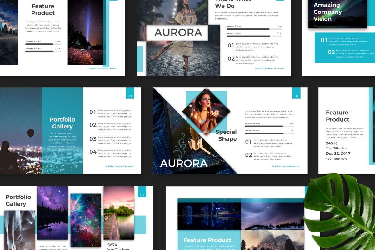Aurora Creative Powerpoint, Slide 8, 06592, Presentation Templates — PoweredTemplate.com