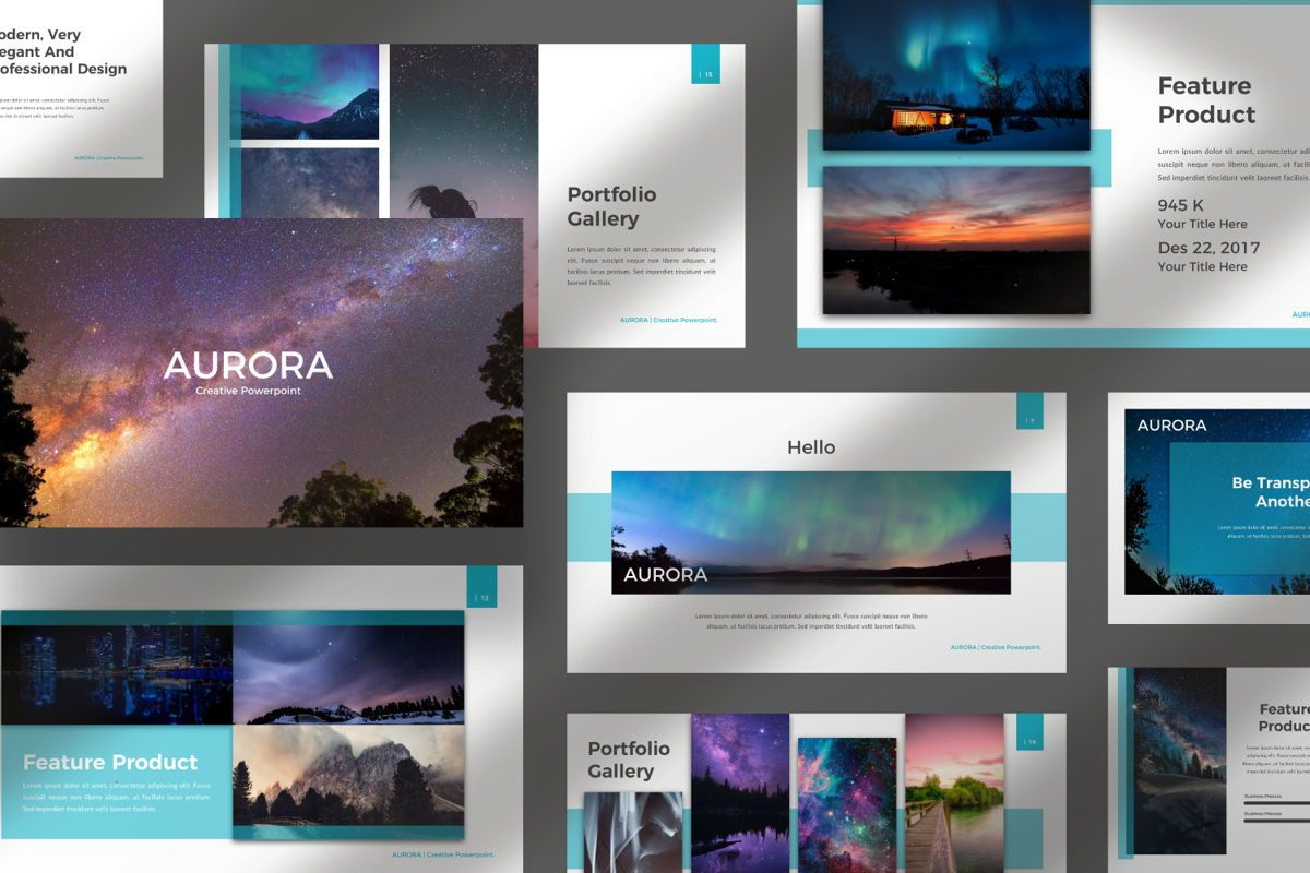 Aurora Creative Powerpoint, Slide 9, 06592, Presentation Templates — PoweredTemplate.com