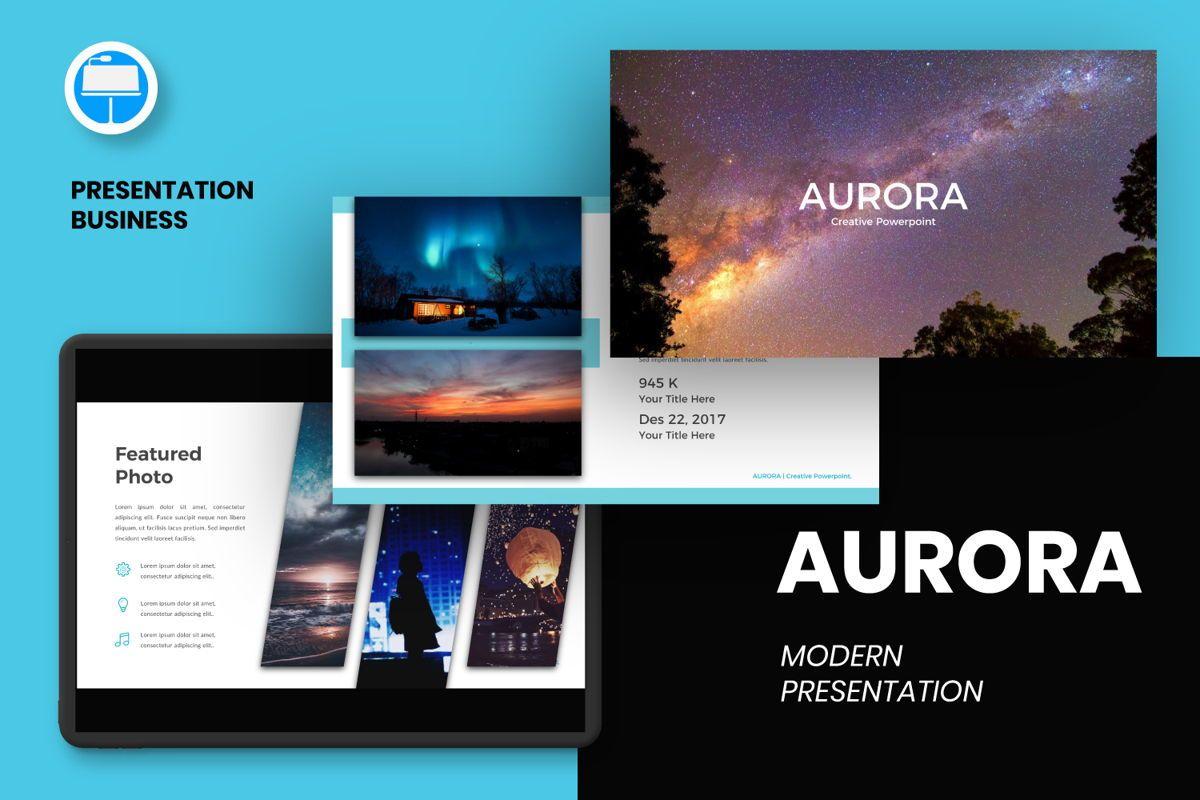 Aurora Creative Keynote, 06593, Presentation Templates — PoweredTemplate.com