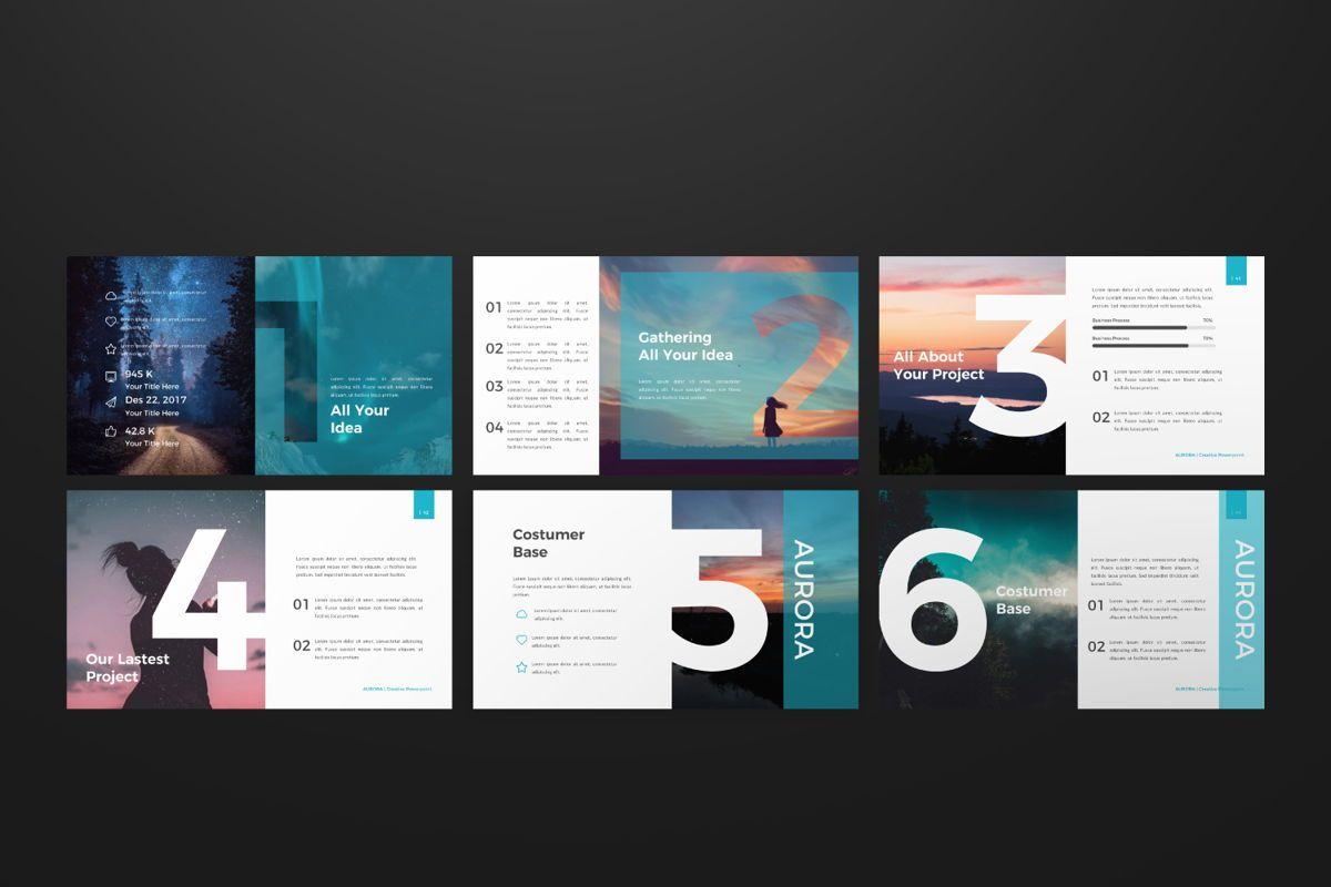 Aurora Creative Keynote, Slide 7, 06593, Presentation Templates — PoweredTemplate.com