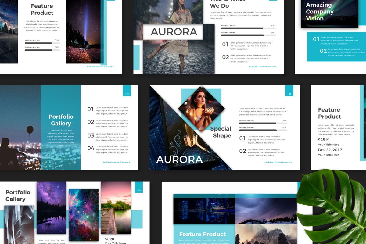 Aurora Creative Keynote, Slide 8, 06593, Presentation Templates — PoweredTemplate.com
