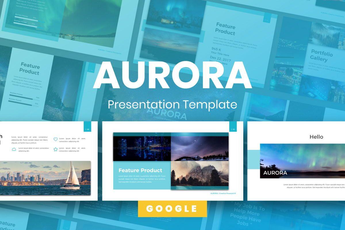 Aurora Creative Google Slide, 06594, Presentation Templates — PoweredTemplate.com