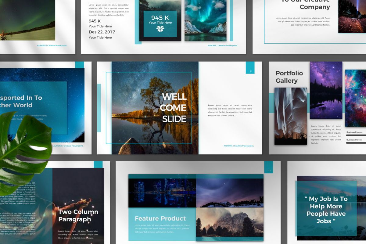 Aurora Creative Google Slide, Slide 10, 06594, Presentation Templates — PoweredTemplate.com