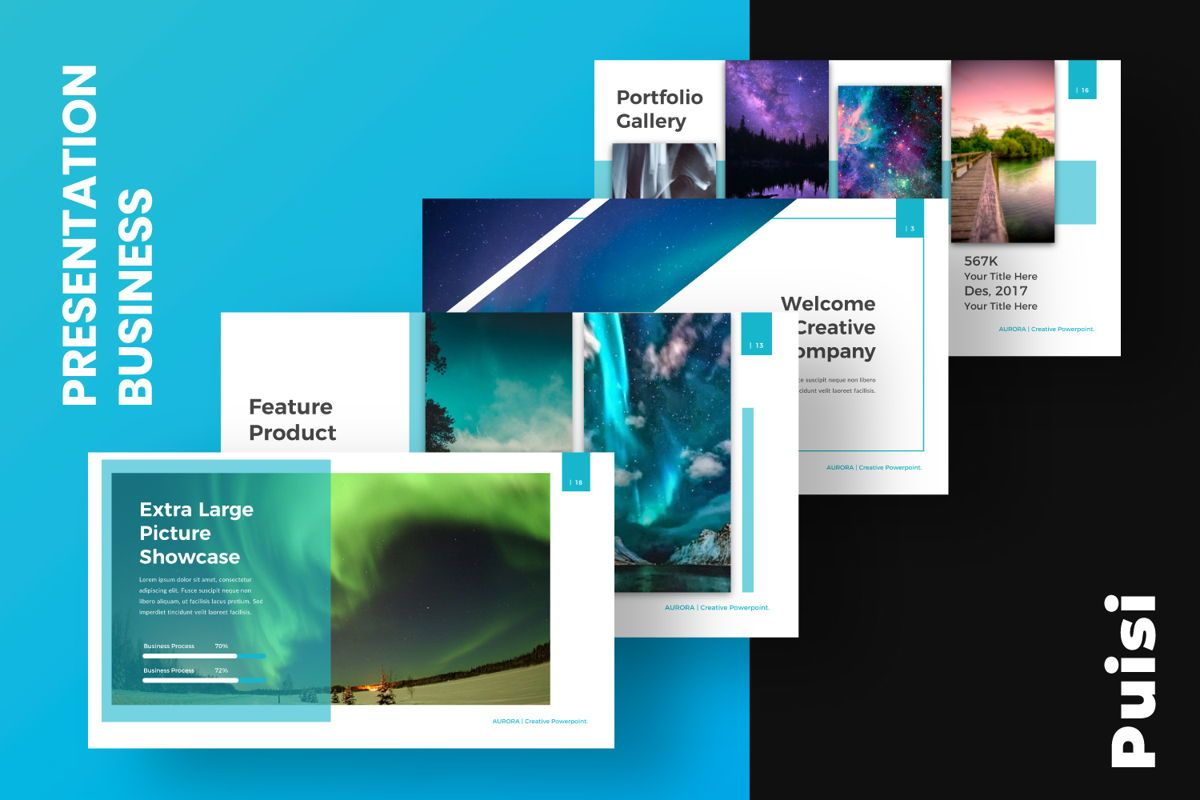 Aurora Creative Google Slide, Slide 11, 06594, Presentation Templates — PoweredTemplate.com