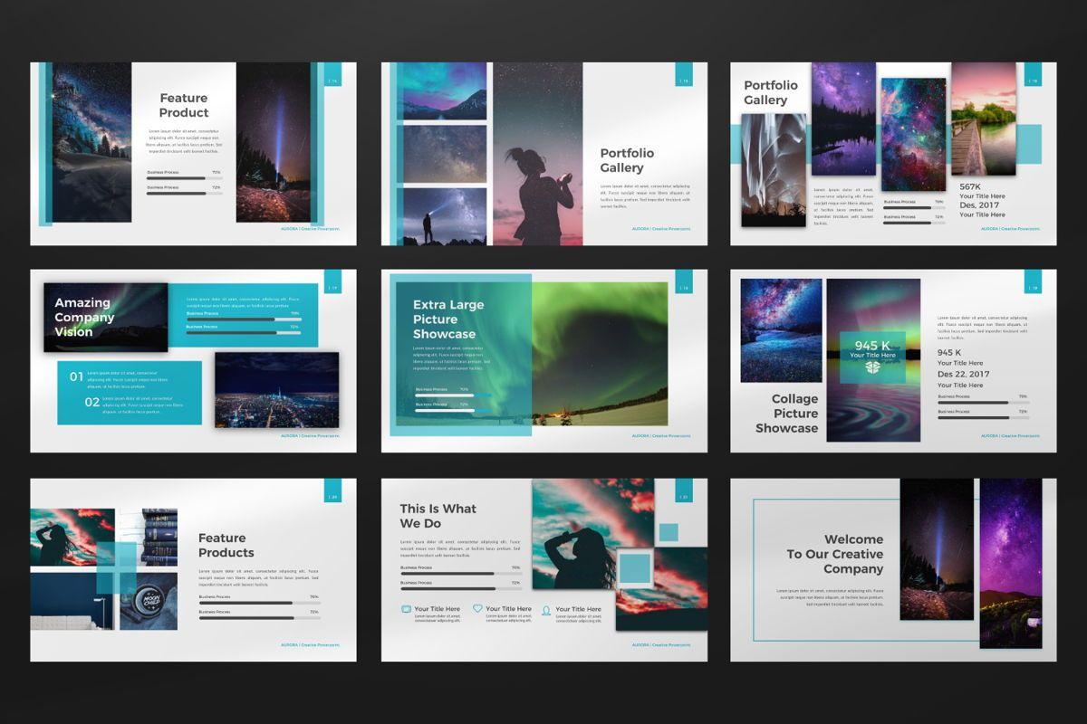 Aurora Creative Google Slide, Slide 3, 06594, Presentation Templates — PoweredTemplate.com