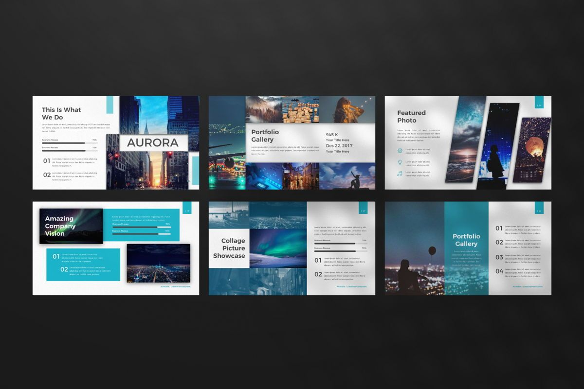 Aurora Creative Google Slide, Slide 4, 06594, Presentation Templates — PoweredTemplate.com