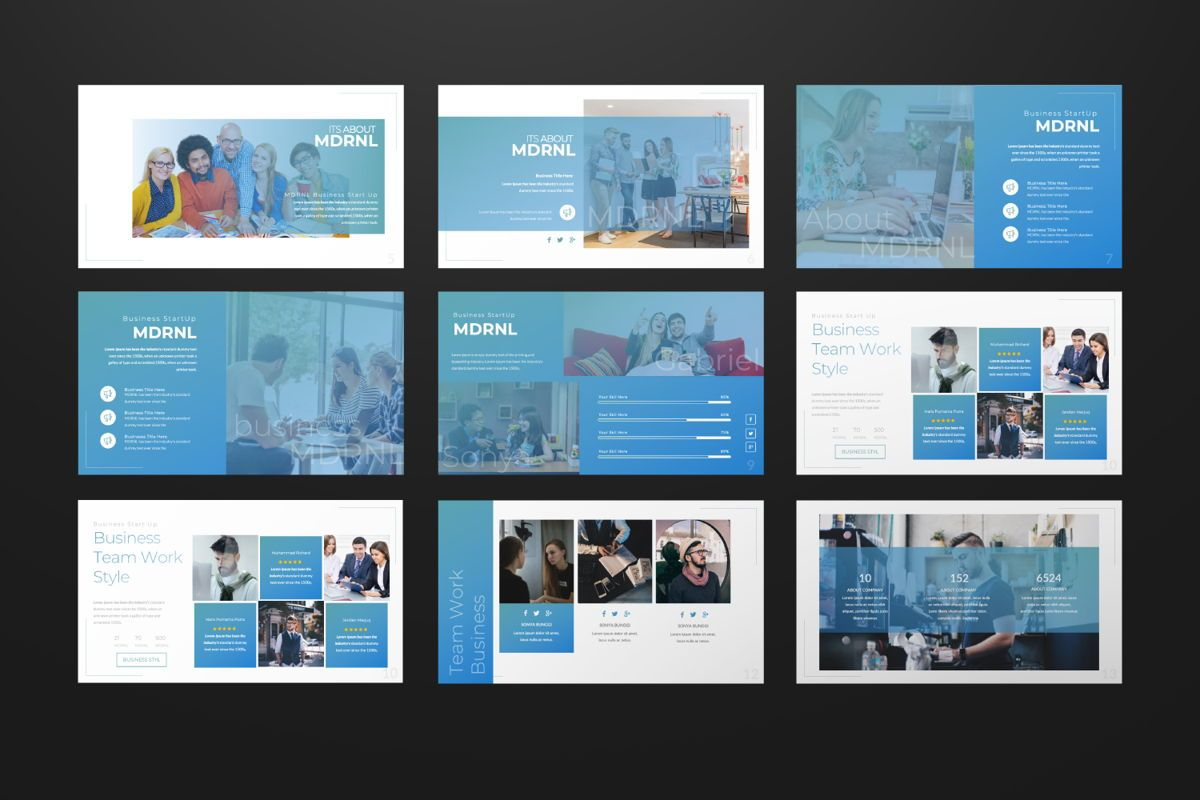 MDRNL Business Powerpoint, Slide 2, 06595, Presentation Templates — PoweredTemplate.com
