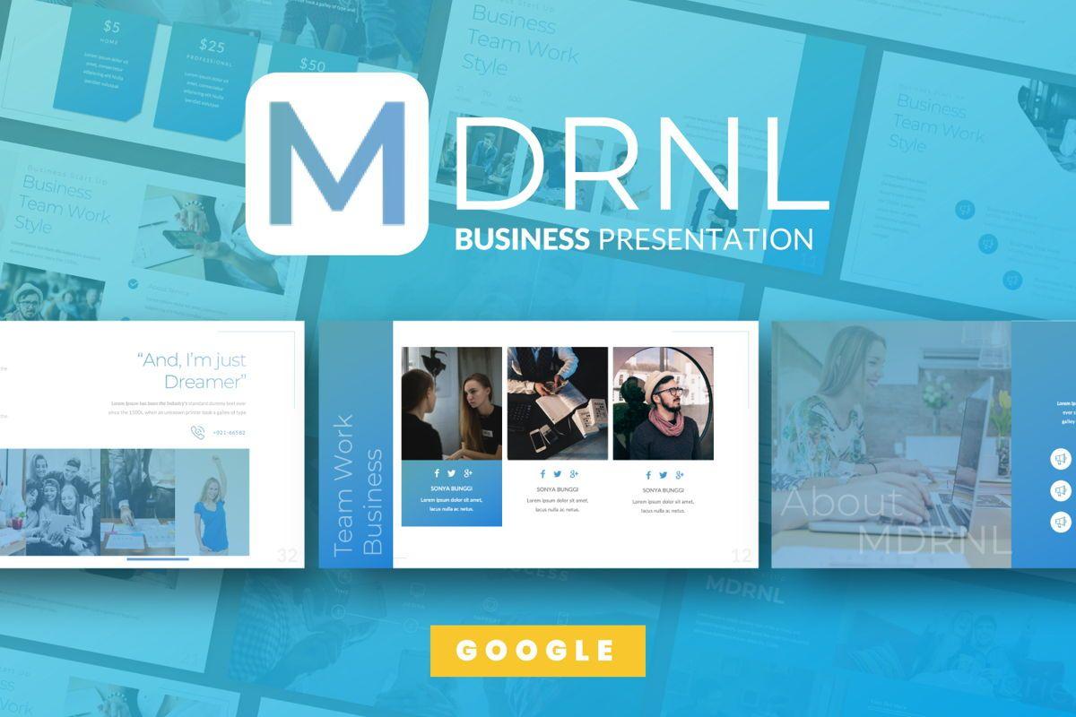 MDRNL Business Google Slide, 06597, Presentation Templates — PoweredTemplate.com
