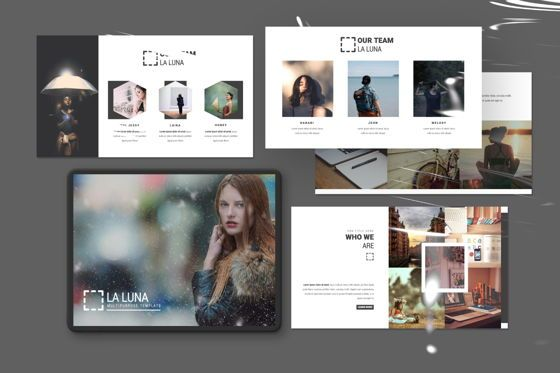 Presentation Templates: Laluna Creative Google Slide #06598