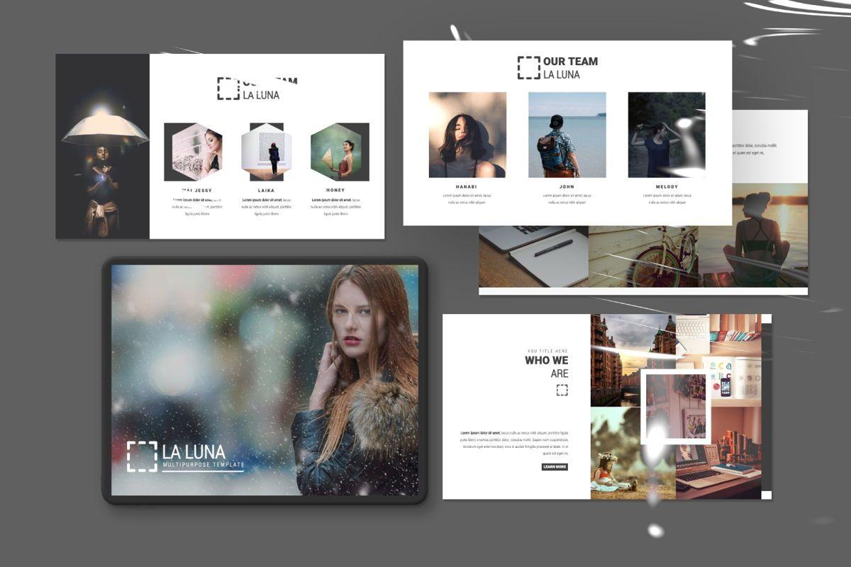 Laluna Creative Google Slide, 06598, Presentation Templates — PoweredTemplate.com