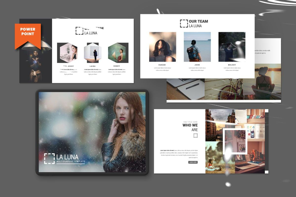 Laluna Creative Powerpoint, 06600, Presentation Templates — PoweredTemplate.com