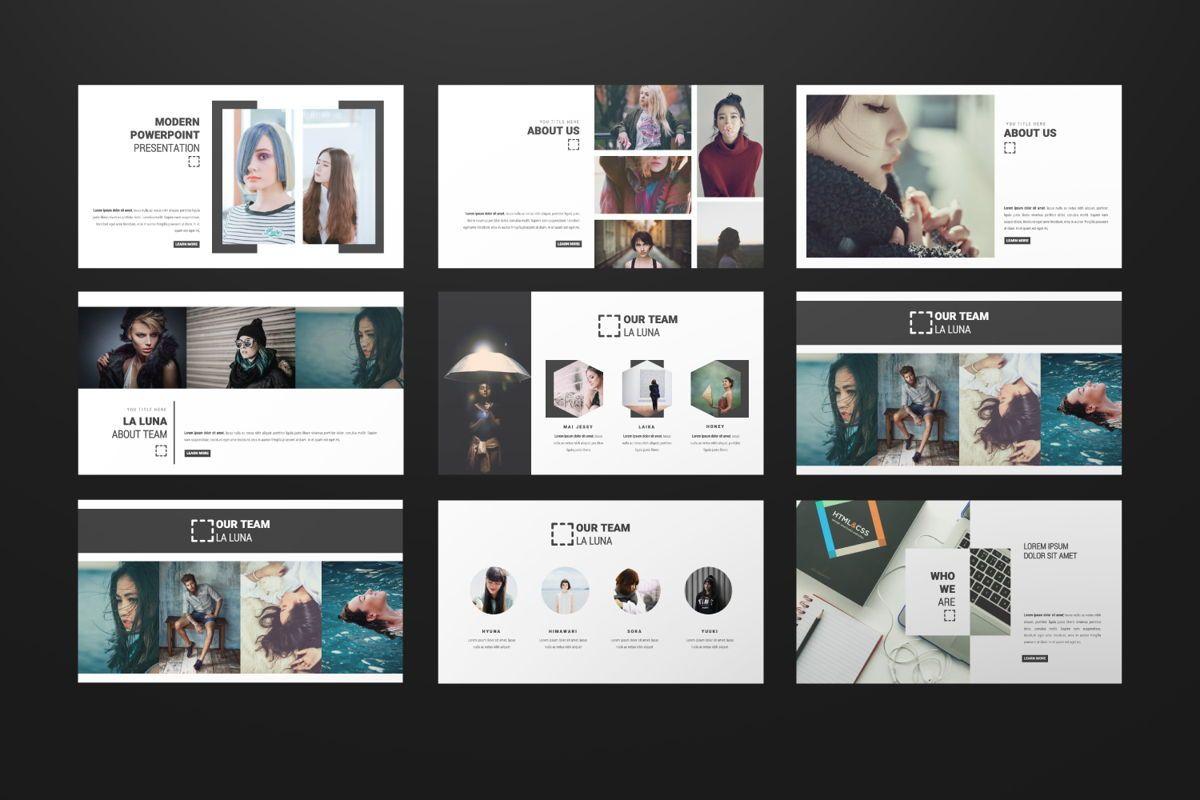 Laluna Creative Powerpoint, Slide 2, 06600, Presentation Templates — PoweredTemplate.com