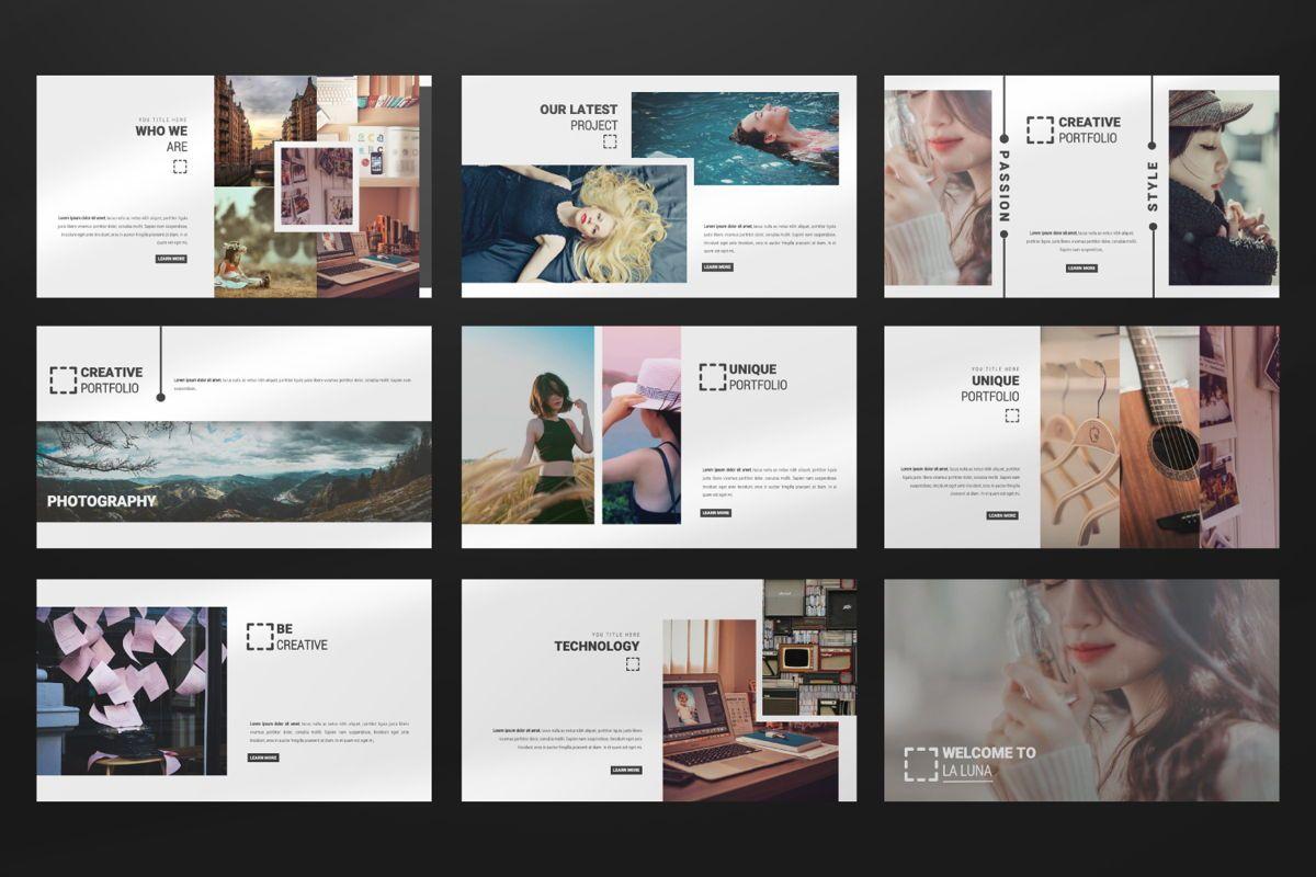 Laluna Creative Powerpoint, Slide 3, 06600, Presentation Templates — PoweredTemplate.com