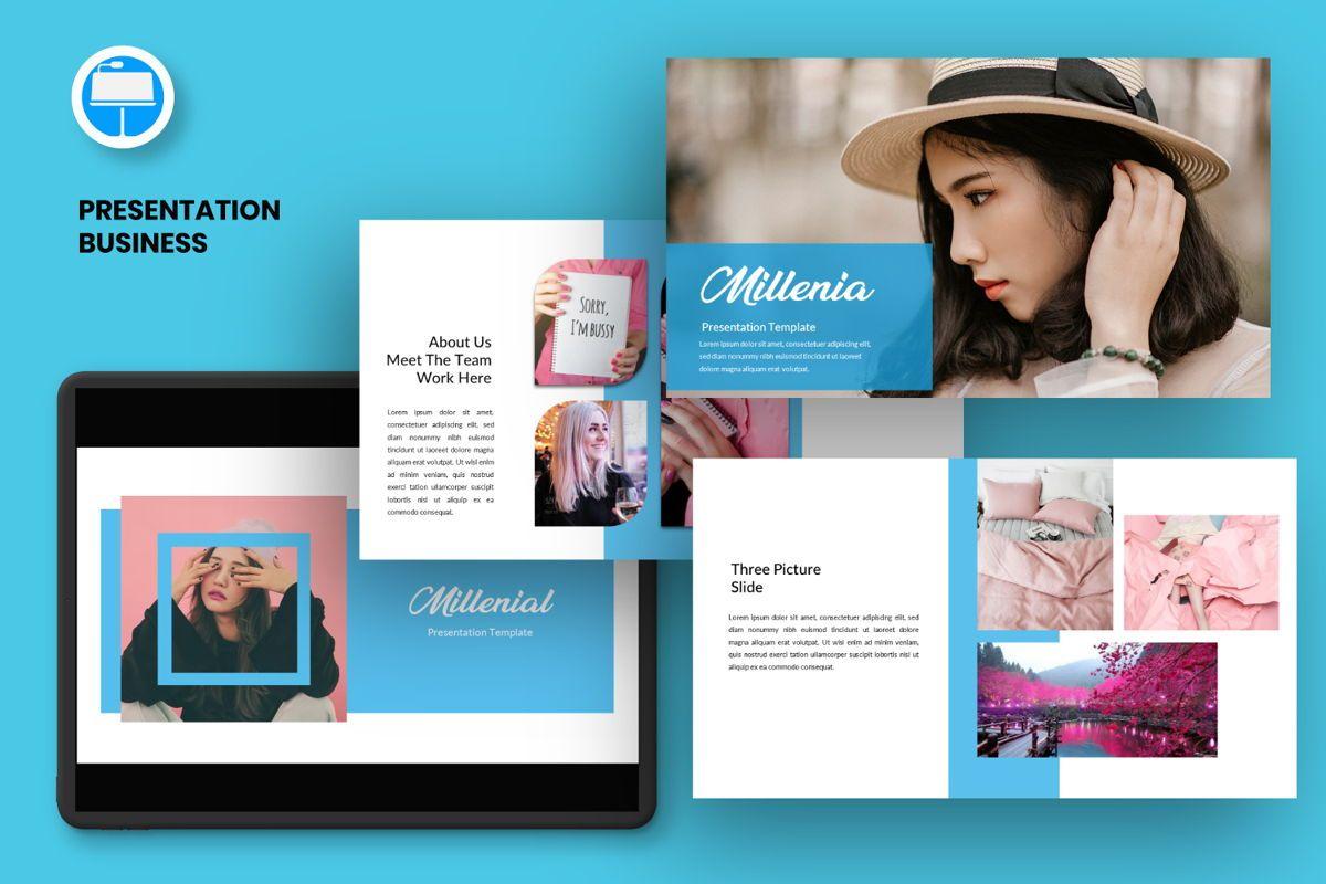 Millenia Creative Keynote, 06602, Presentation Templates — PoweredTemplate.com