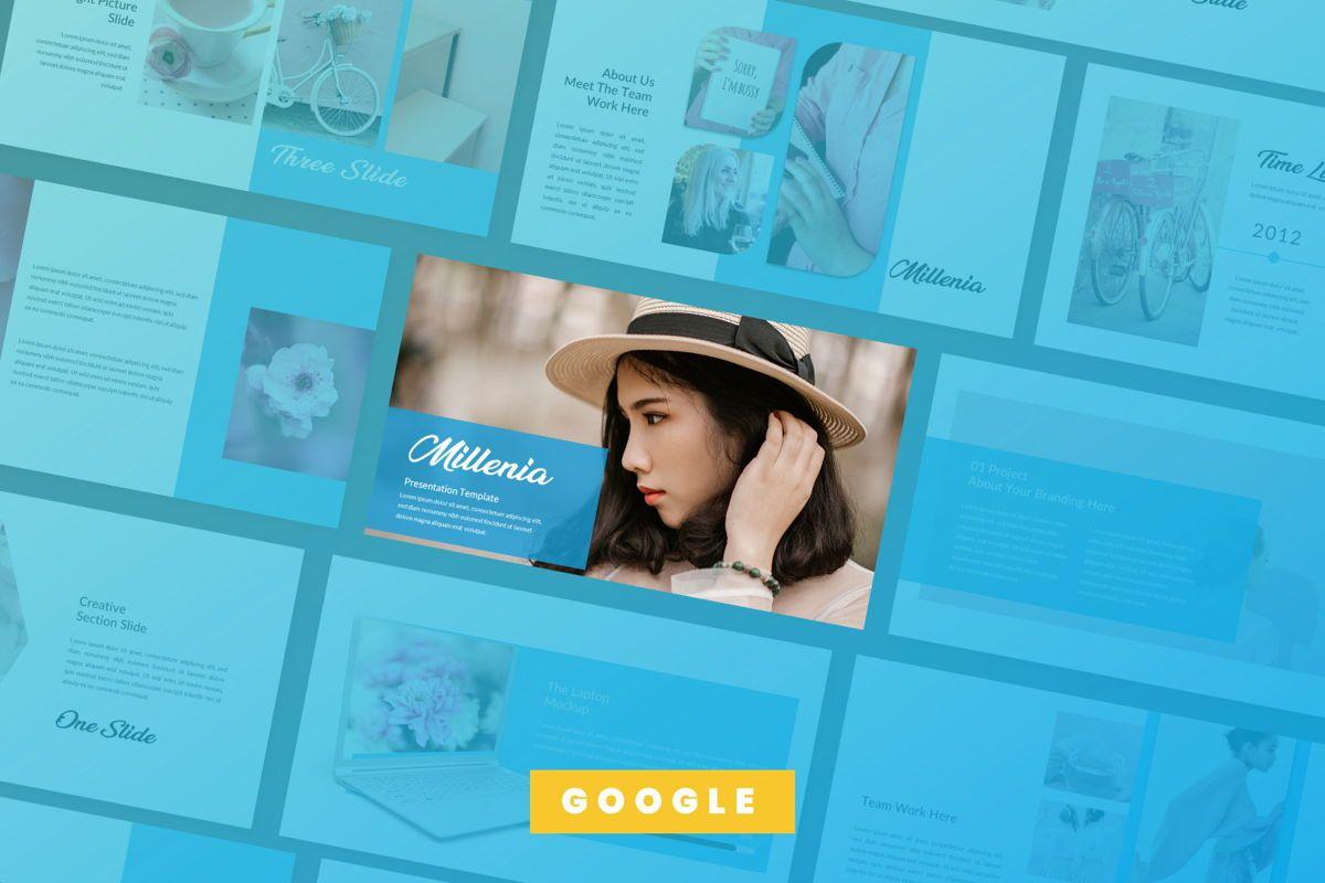 Millenia Creative Google Slide, 06603, Presentation Templates — PoweredTemplate.com