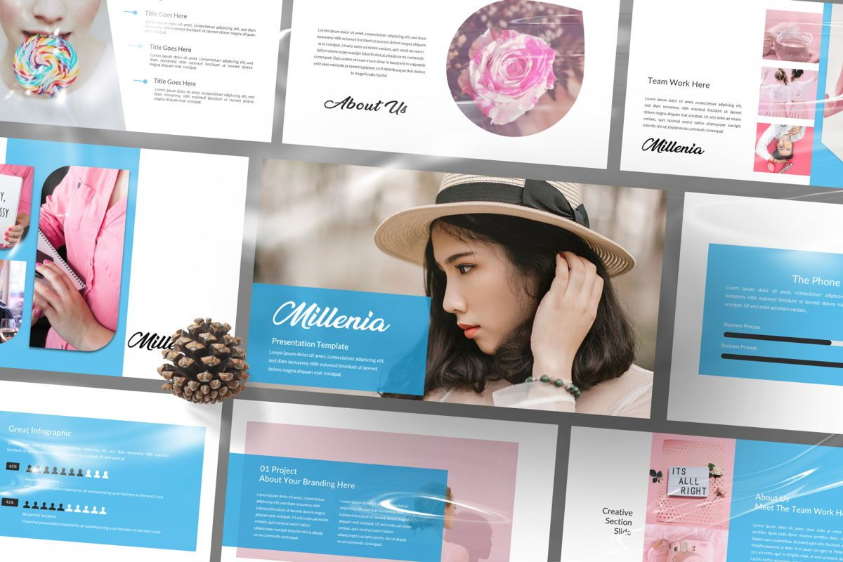 Millenia Creative Google Slide, Slide 3, 06603, Presentation Templates — PoweredTemplate.com