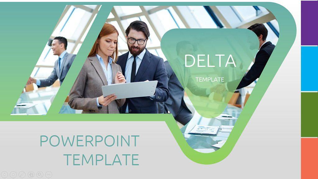 Delta PowerPoint Template, 06604, Presentation Templates — PoweredTemplate.com