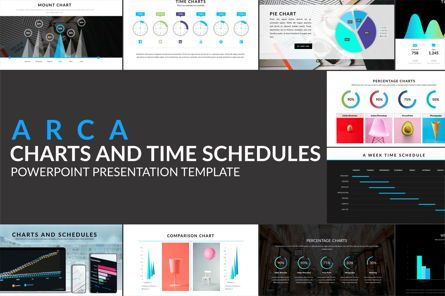 Data Driven Diagrams and Charts: Arca Charts and Schedules Presentation Template #06608