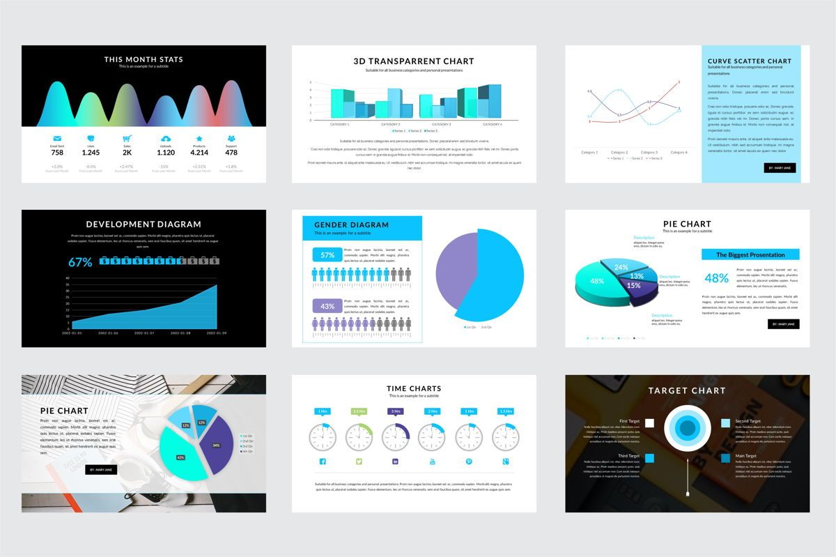 Arca Charts and Schedules Presentation Template, Slide 3, 06608, Data Driven Diagrams and Charts — PoweredTemplate.com