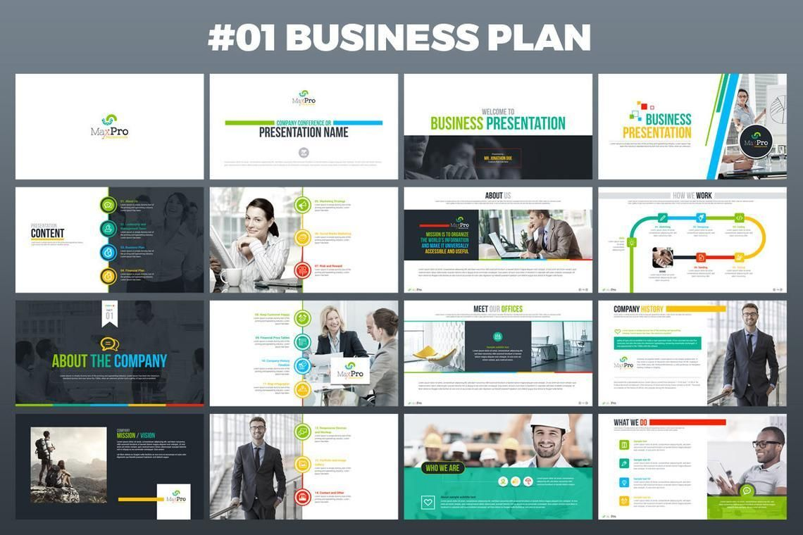 MaxPro Business Plan PowerPoint Template, Slide 2, 06609, Business Models — PoweredTemplate.com