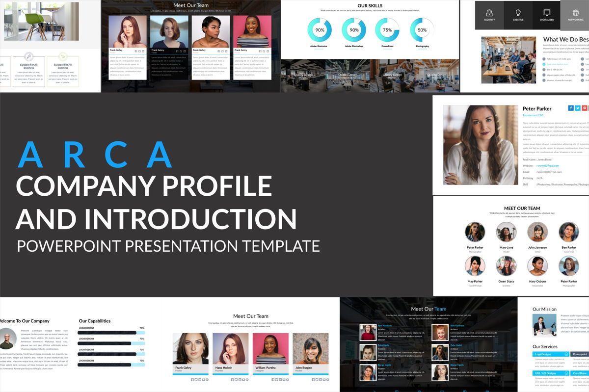 Arca Company Profile and Introduction Templates, 06610, Business Models — PoweredTemplate.com