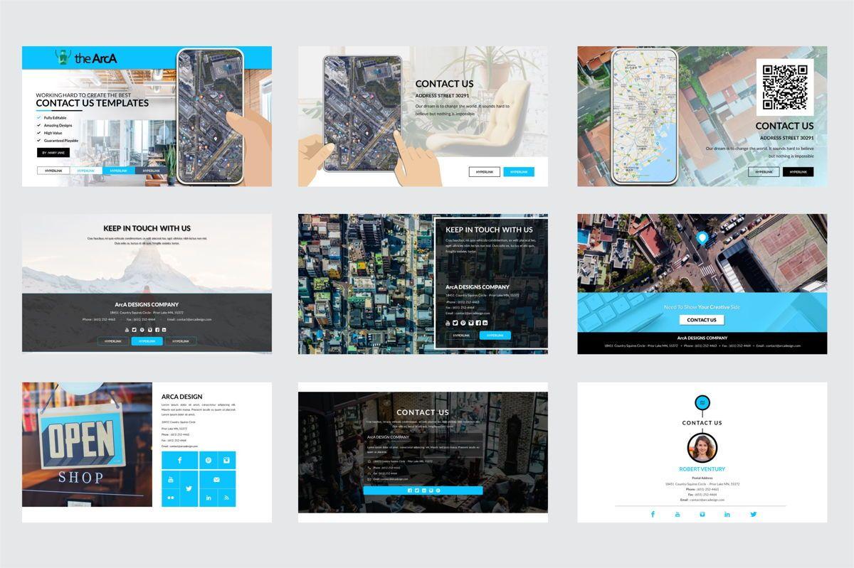 Arca Contact Us Presentation Templates, Slide 2, 06611, Icons — PoweredTemplate.com